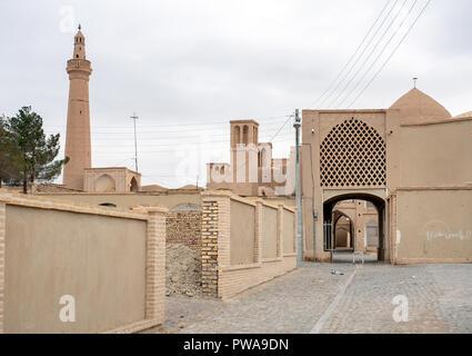 Nain old town and Jameh mosque, Isfahan province, Iran - Stock Image