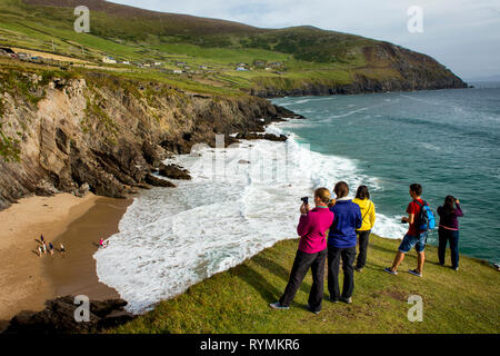 Coumeenole Beach at Dunmore head in Dingle County Kerry - Stock Image