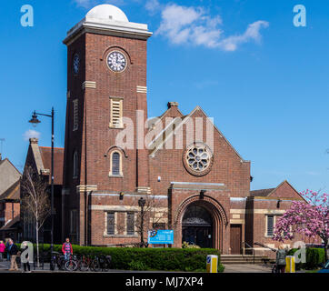 Frinton Free Church by William Hayne,  1911-1935, Italianate style, Connaught Avenue, Frinton-on Sea, Essex, England - Stock Image