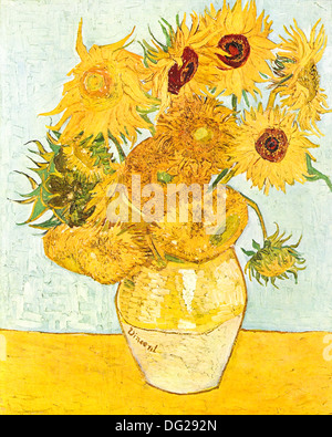 Sunflowers by Vincent van Gogh 1888 - Stock Image