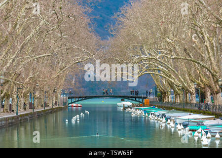 Pont des Amours in Annecy, France - Stock Image