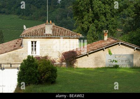 chateau gudeau saint emilion bordeaux france - Stock Image