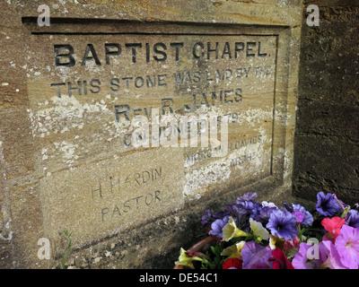 Baptist Chapel Stone, Montecute, Somerset, England, UK - Stock Image