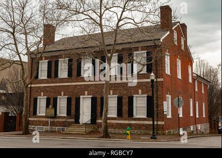 Mary Todd Lincoln home in Lexington Kentucky - Stock Image