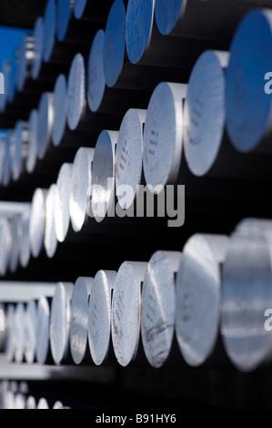 Aluminum rods - Stock Image