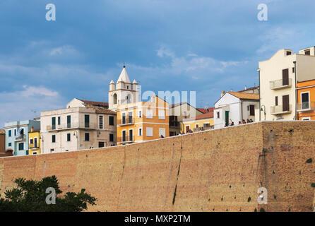 Termoli old town, Molise, Italy - Stock Image