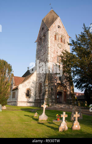 St Peter & St Paul Church, Hawkley, nr Liss, East Hampshire - Stock Image