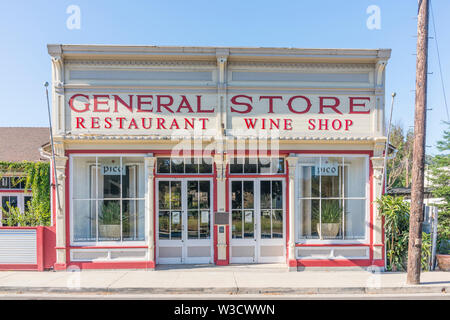 The front facade of the Los Alamos, California General Store.  A historic property on Bell Street, the main street in the small town, that was recogni - Stock Image