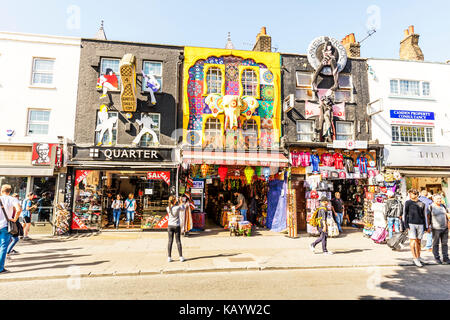 Camden Town London, London's Camden Town, Camden Town shops, Camden Town high street, Camden Town art above - Stock Image