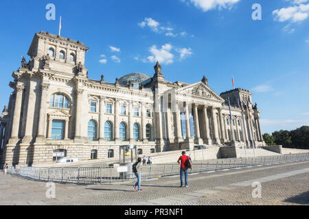 View on Reichstag in Berlin - Stock Image