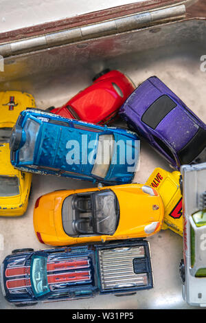 Collection of toy cars - Stock Image