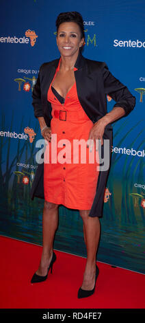London, United Kingdom. 16 January 2019. Dame Kelly Holmes arrives for the red carpet premiere of Cirque Du Soleil's 'Totem' held at The Royal Albert Hall. Credit: Peter Manning/Alamy Live News - Stock Image
