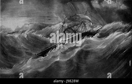 Nemesis in a gale - Stock Image