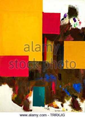 Untitled by Hans Hofmann Germany born, Germany,  American, United, States, of, America, USA, - Stock Image
