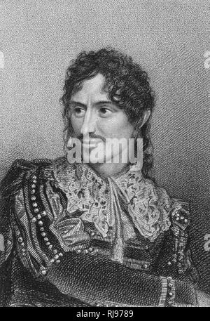 The actor, Edmund Kean, in the role of Giles Overreach in 'A New Way to Pay Old Debts' by Philip Massinger - Stock Image