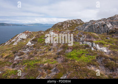 Landscape rocky view on hills in Ireland - Stock Image