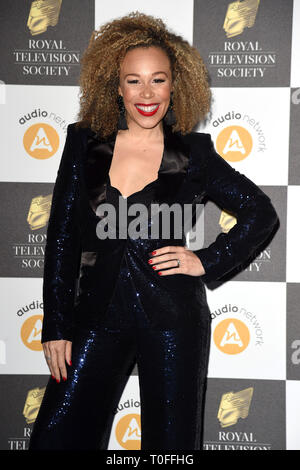 LONDON, UK. March 19, 2019: Ria Hebden arriving for the Royal Television Society Awards 2019 at the Grosvenor House Hotel, London. Picture: Steve Vas/Featureflash Credit: Paul Smith/Alamy Live News - Stock Image