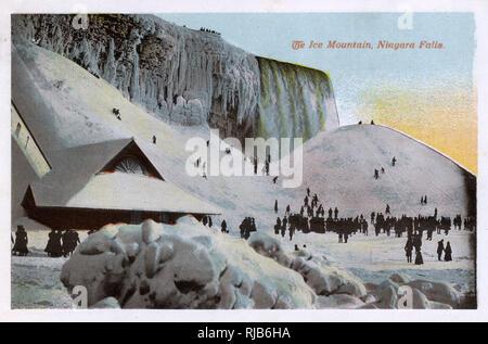 Niagara Falls, USA - The Ice Mountain - Stock Image