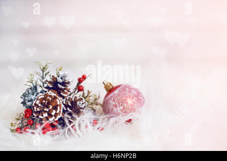 Christmas decoration on abstract background - Stock Image
