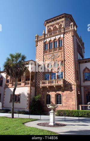 Ca d'Zan, the Mediterranean Revival mansion of circus owner and art collector John Ringling and his wife Mable, Sarasota, Florida. - Stock Image