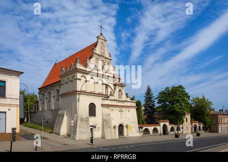 Lublin, Poland. St. Joseph's Church - 17th-century Roman Catholic church in old town - Stock Image
