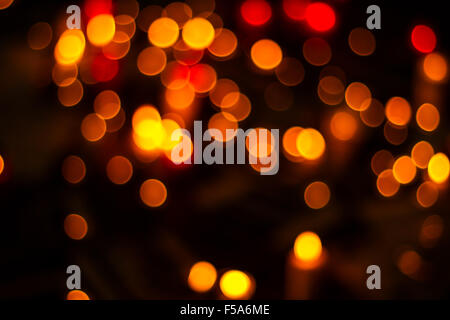 Bokeh. Festive and colorful background. - Stock Image