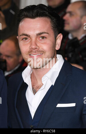 London, UK. 12th Mar, 2019. LONDON, UK. March 12, 2019: Ray Quinn arriving for the TRIC Awards 2019 at the Grosvenor House Hotel, London. Picture: Steve Vas/Featureflash Credit: Paul Smith/Alamy Live News - Stock Image