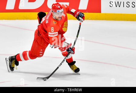 Bratislava, Slovakia. 13th May, 2019. Russian ice hockey player ALEXANDR OVECHKIN in action during the match Czech Republic against Russia at the 2019 IIHF World Championship in Bratislava, Slovakia, on May 13, 2019. Credit: Vit Simanek/CTK Photo/Alamy Live News - Stock Image