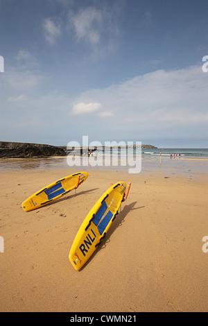 Trevone Beach, Cornwall - Stock Image