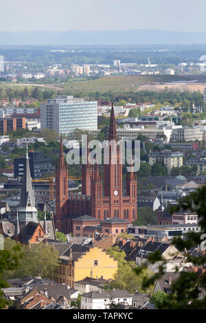 Buildings in Wiesbaden, the state capital of Hesse, Germany. - Stock Image