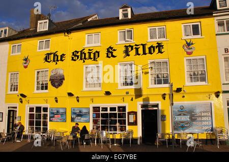 The Ship and Pilot public house, Ilfracombe, Devon, England, UK - Stock Image