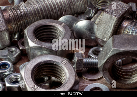 Nuts and bolts - Stock Image