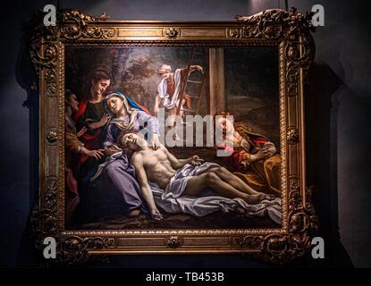 Italy Emilia Romagna Parma Museum Pole of the Pilotta - National Gallery - Correggio -lamented over the dead Christ - Stock Image