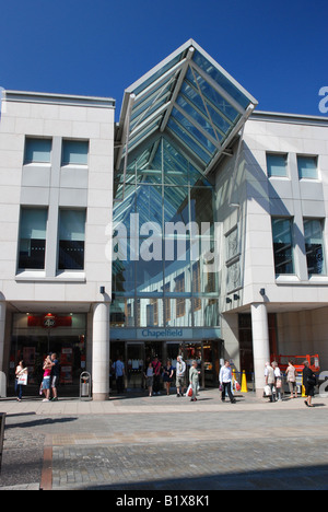 Entrance to Chapelfield Mall, Norwich, Norfolk - Stock Image