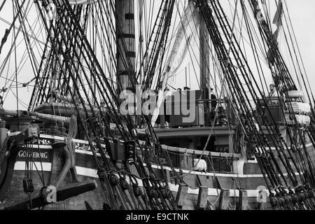 Members of the crew on the Swedish replica Eastindiaman Götheborg. - Stock Image