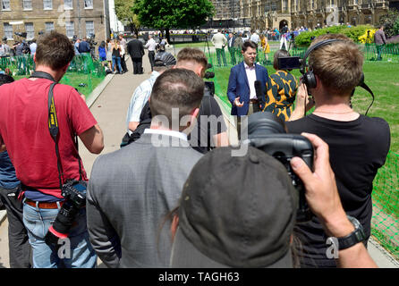 James Brokenshire MP, Secretary of State for Housing, Communities and Local Governmen, interviewed on College Green, Westminster, 24th May 2019, the d - Stock Image