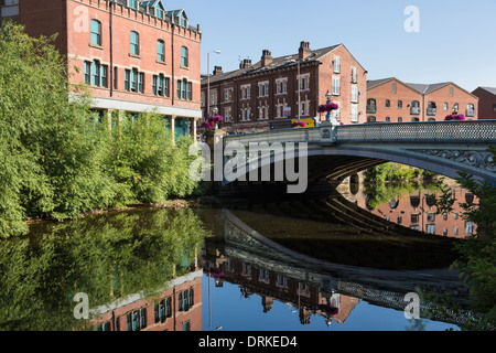New Leeds Bridge, River Aire, Leeds, England - Stock Image