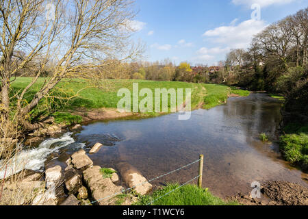 The river Sid at Fortescue, on the outskirts of Sidmouth, Devon, UK - Stock Image