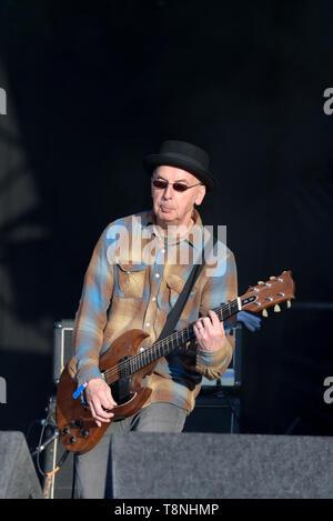 John O'Neill of the Undertones performing at Wychwood festival, Cheltenham, England, UK. May 29, 2015. - Stock Image