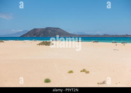 Corralejo Dunes Natural Park in Fuerteventura, Canary Islands - Spain - Stock Image