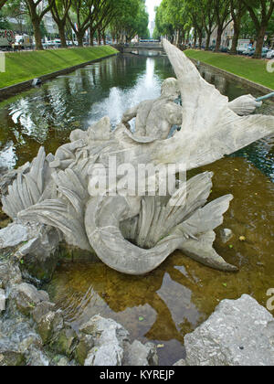 Tritonenbrunnen konigsallee Dusseldorf germany - Stock Image