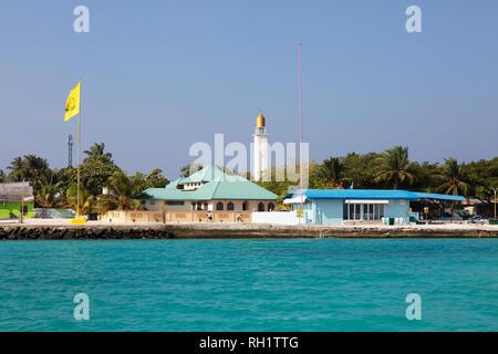 Maldives Island - Ukulhas Island, Alif Alif atoll, the Maldives, Asia - Stock Image