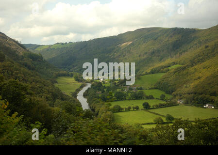 Rheidol Valley Railway, view from the train near Troedrhiwsebon - Stock Image