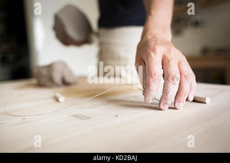 Potter at work - Stock Image