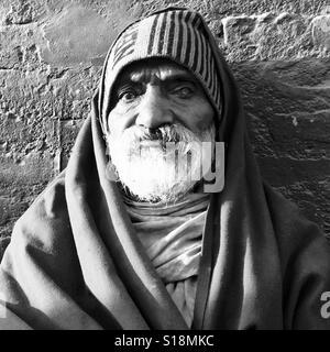 Old man, Kathmandu - Stock Image