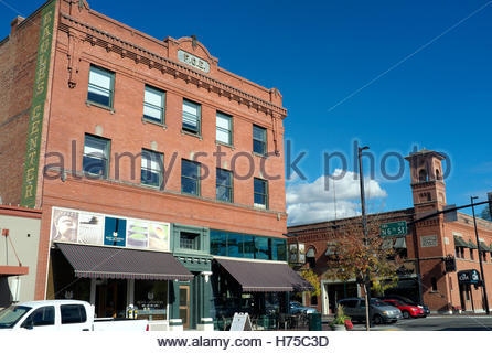 Historic buildings in downtown Boise, Idaho, USA. - Stock Image