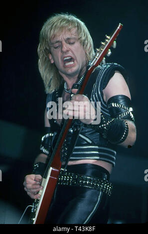 JUDAS PRIEST English heavy metal rock group in 1984 with K>K> Downing. Photo: Jeffrey Mayer - Stock Image