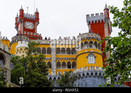 The Pena National Palace in Sintra, Portugal - Stock Image