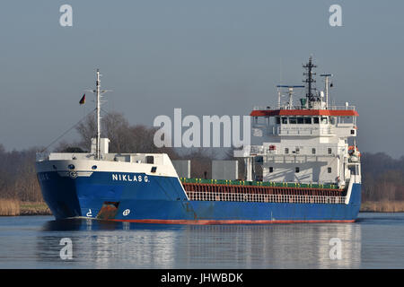 General Cargo Vessel Niklas G - Stock Image