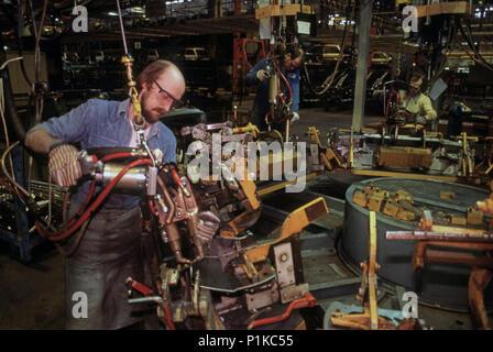 Austin Rover UK car factory - Stock Image
